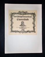 Musica Spartiti - C. P. E. Bach - Clavierstücke - Piano Pieces - Piano Solo - Vieux Papiers