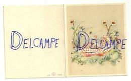 Mignonnette Double. Baptême. Charleroi 1947. Coloprint  10360. Bébé Et Coussin Dans L'herbe.7,5/9 Cm - Geboorte