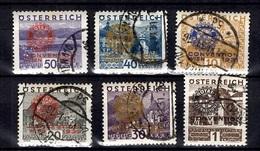 Autriche Série Rotary YT N° 398A/398F Oblitérés. B/TB. A Saisir! - 1918-1945 1ste Republiek
