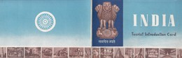 INDIA TOURIST INTRODUCTION CARD. GOUVERMENT OF INDIA, EMBASSY BUENOS AIRES. JAGANNATH TEMPLE, PURI.-BLEUP - India