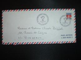 L. Par AVION Pour La FRANCE TP PARIS 0,30 Surch.15f CFA OBL.23 JUIN 1968 974 ST DENIS 1er CHAMPIONNAT DEPAL D'ECHECS - Réunion (1852-1975)