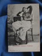 Femme  Mauresque Costume D'intérieur  Mains Derrière La Tête - Ed. Garrigues 185 - Précurseur - L377A - Tunisia