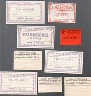Lussac (33 Gironde) Lot  De 9 étiquettes (dont Doubles ) De La Pharmacie TOURRIOL (PPP12440) - Publicités