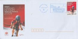 Enveloppe  1er  Jour   MONACO   Départ  Du   TOUR  DE  FRANCE   CYCLISTE  2009 - FDC