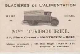 """93 ( Montreui Sous Bois """" .glacieres De L Alimentation """"  ) Carton  Format 12x 8 - Camions"""