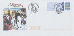 Enveloppe  Prêt  à Poster   Ville    Etape  Du  TOUR  DE  FRANCE   CYCLISTE   OBERNAI   2006 - Cycling