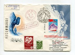 ALPINISM R-COVER 1982 USSR MOSCOW-PARIS RETOUR SP.POSTMARK EVEREST Mi# 5237 Block 160 - Klimmen