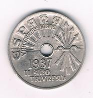 25 CENTIMOS 1937 SPANJE /2776G/ - [ 2] 1931-1939 : República