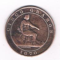 5 CENTIMOS 1870 OM  SPANJE /2777G/ - Primeras Acuñaciones