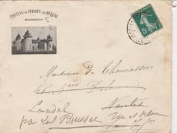 Savigny Les Beaunes - 1910 - Lettre à En-tête Du Château Consécutive Au Désastre Du Mildiou -2 Scan - Alimentaire
