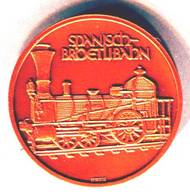 SBB ,CFF Spanisch Bröelibahn 125.ans 1847 -1972 - Jetons & Médailles