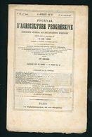 JOURNAL D'AGRICULTURE (INDICATEUR GENERAL DES AMELIORATIONS AGRICOLES) N° 27  DU 5 /7/1873 - 1850 - 1899