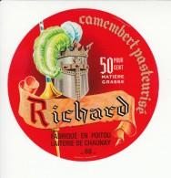 Etiquette De Fromage Camembert - Richard - - Fromage