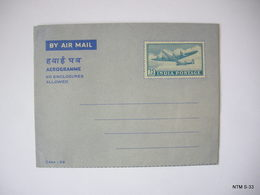 INDIA 1966 Aerogramme. Inland Letters. 20np - 50np - 75np. Unused - India
