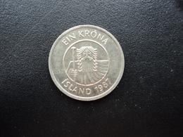 ISLANDE : 1 KRONA  1987  KM 27    SUP+ - Islandia