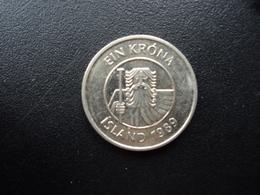 ISLANDE : 1 KRONA  1989  KM 27a    SUP+ - Iceland