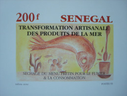 SENEGAL 1993 / 1053-1056 / 4 LUXE PROOFS / Fishes Fish Industry Poisson Pêche - Sénégal (1960-...)
