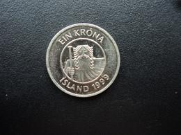 ISLANDE : 1 KRONA  1999  KM 27a    Non Circulé - Iceland