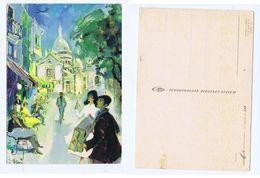 SAS AIRLINE - SET OF 4 POSTCARDS - TOLEDO / PARIS / PORTUGAL - 1950s (2792) - 1946-....: Moderne