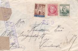 Guerre D'Espagne   Censure Républicaine Sur Lettre Pour Toulouse De 1938 - 1931-50 Briefe U. Dokumente