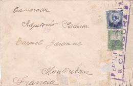 Guerre D'Espagne  :  Lettre Avec Censure Républicaine Pour La France - 1931-50 Briefe U. Dokumente