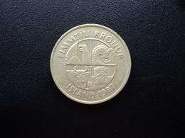 ISLANDE : 50 KRONUR  1987  KM 31   SUP * - Islandia