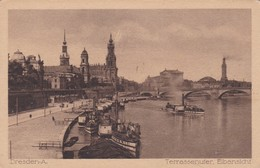 CARTOLINA - POSTCARD - GERMANIA - DRESDEN A. - TERRASSENUFER ELBANSICHF - Dresden
