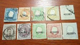 Azores Portugal 1871-85 Nice Selection Of Old Stamps 10 Pcs USED-MLH - Colonies & Territories – Unclassified