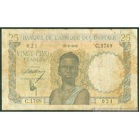 TWN - FRENCH WEST AFRICA 38a - 25 Francs 17.8.1943 C.1769 - 021 VG+ - Banconote