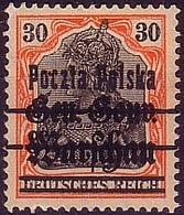 Poland 1918 Germania GGW M11 Error Provisional Owerprint Poczta Polska G.signed. MNH** W565 - ....-1919 Übergangsregierung