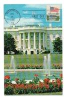 Carte Maximum 138, USA Etats-Unis 1968 White House Maison Blanche - Maximumkarten (MC)
