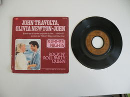 John Travolta & Olivia Newton John - Gréase, Summer Nights / Rock N'roll Party Queen (1978) - Polydor - Disco, Pop