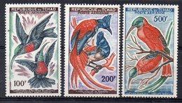 CIAD  1961/63 - FLORA E FAUNA - UCCELLI E PIANTE - 3 VALORI - MNH ** - Ciad (1960-...)