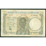 TWN - FRENCH WEST AFRICA 38 - 25 Francs 19.12.1952 S.10046 - 840 AF - Other - Africa