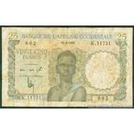 TWN - FRENCH WEST AFRICA 38b - 25 Francs 10.4.1953 K.11731 - 802 VG+ - Banconote