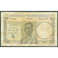 TWN - FRENCH WEST AFRICA 38b - 25 Francs 10.4.1953 K.11731 - 802 VG+ - Altri – Africa