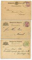 Bayern / 3 Postkarten O (5/460) - Bavaria