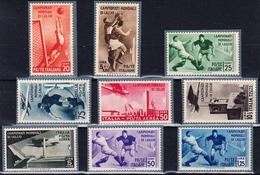 World Cup Football ITALIA 1934 Ordinary Set Of Stamps Soccer. No Integral Gum But Very Beautiful New Set - Fußball-Weltmeisterschaft