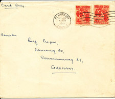 Papua New Guinea Cover Sent To Germany PT Moresby 4-11-1961 - Papua-Neuguinea