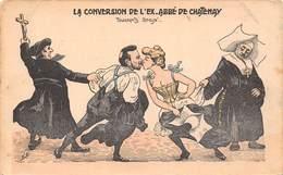 Illustration - La Conversion De L'ex Abbé De Chatenay - Touchants Adieux - Réligion Humour - Illustrateur Mille - Mille