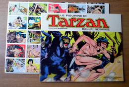 Album Tarzan Cenisio 1973 Vuoto + Set Completo Figurine 1/200 Su Foglio Da Ritagliare - Altre Collezioni