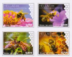 GREECE STAMPS 2018/20 MAY WORLD BEE DAY-  20/5/18-MNH-COMPLETE SET - Honingbijen