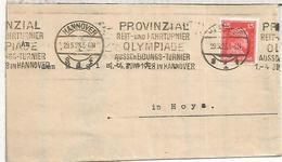 HANNOVER FRONTAL PRUEBAS ECUESTRES PARA LOS JUEGOS OLIMPICOS DE 1928 EN AMSTERDAM HIPICA - Summer 1928: Amsterdam