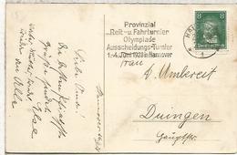 HANNOVER TP PRUEBAS ECUESTRES PARA LOS JUEGOS OLIMPICOS DE 1928 EN AMSTERDAM HIPICA - Summer 1928: Amsterdam