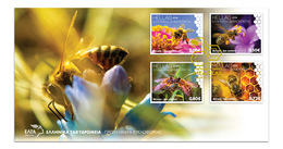 GREECE FDC 2018/20 MAY WORLD BEE DAY -  20/5/18-MNH-COMPLETE SET - FDC