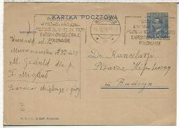 POLONIA ENTERO POSTAL MAT 1929 EXPOSITION GENERALE POLONAISE - 1919-1939 Republik