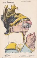 CPA Anti-Guillaume II Kaiser Caricature Satirique Leur Sourire LOUVAIN Illustrateur C. LEANDRE - Personajes