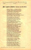 Der Tapfere Schelm (Ballade Von Otto Brues)  / Gedicht, Entnommen Aus Zeitschrift /1942 - Livres, BD, Revues