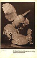 Hahnenkampf (Porzellanplastik Von Hugo Meisel) / Druck, Entnommen Aus Zeitschrift /1942 - Bücher, Zeitschriften, Comics