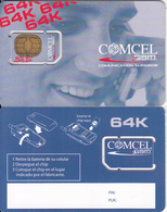 COLOMBIA - Man On The Phone, Comcel GSM, Chip GEM, Sample - Colombia